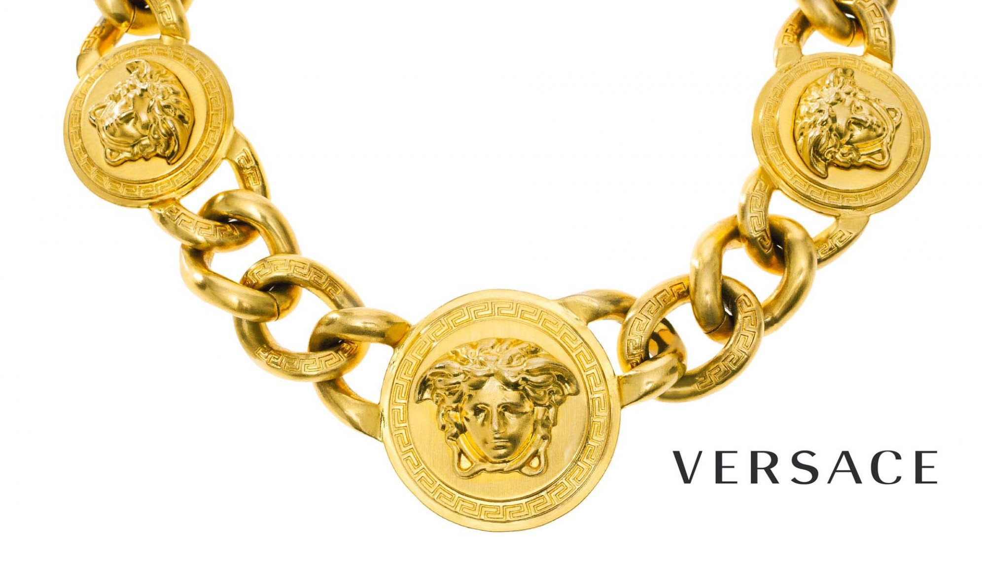 Versace Gold necklace with Medusa emblem