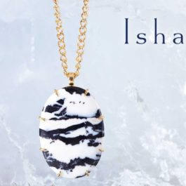 Isharya Necklace on Ice Block